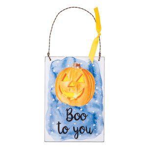 Boo to You Halloween Pumpkin Wall/Door Hanging